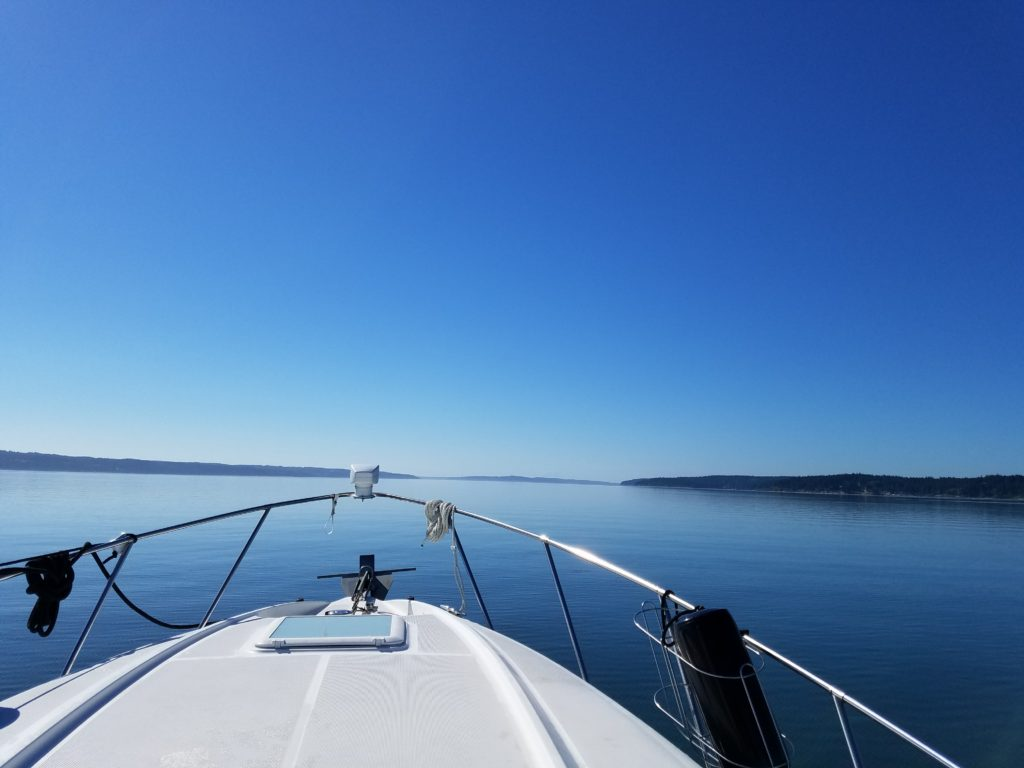 first boating trip calm puget sound