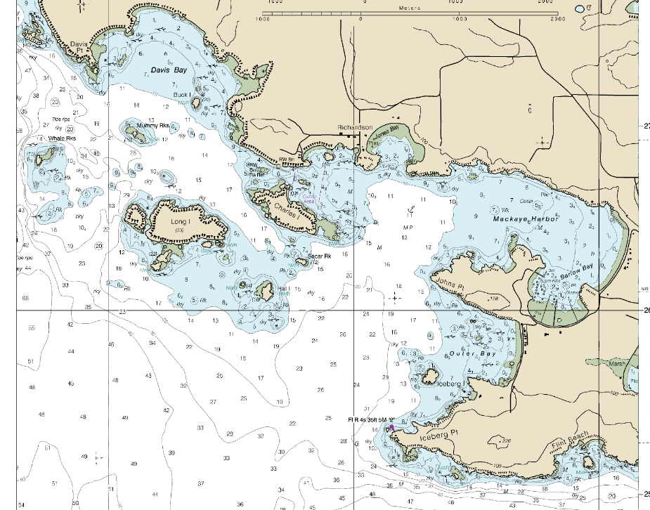 first boating trip nautical chart cattle pass