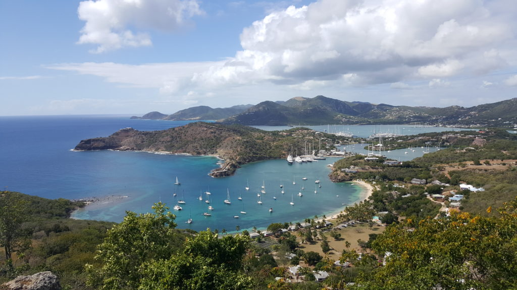 caribbean island lookout point