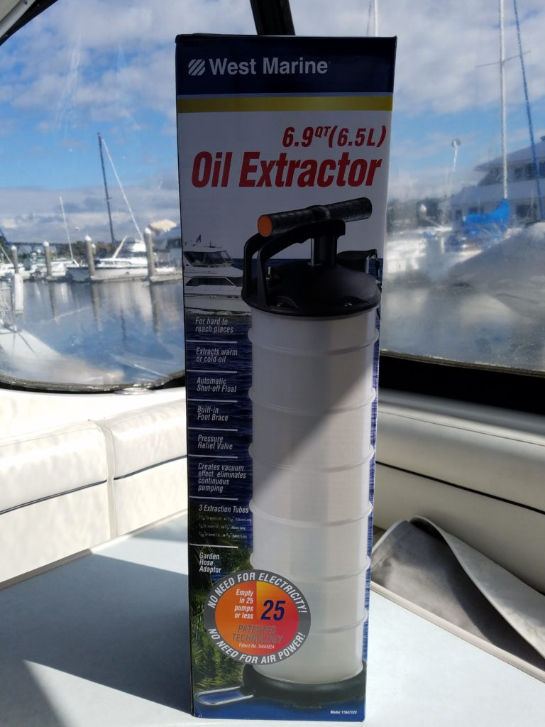 diy oil change boat