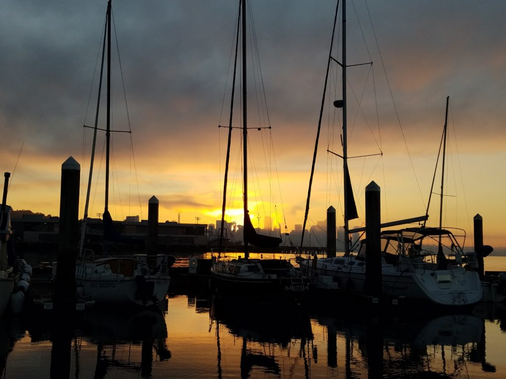 marina sunrise Seattle