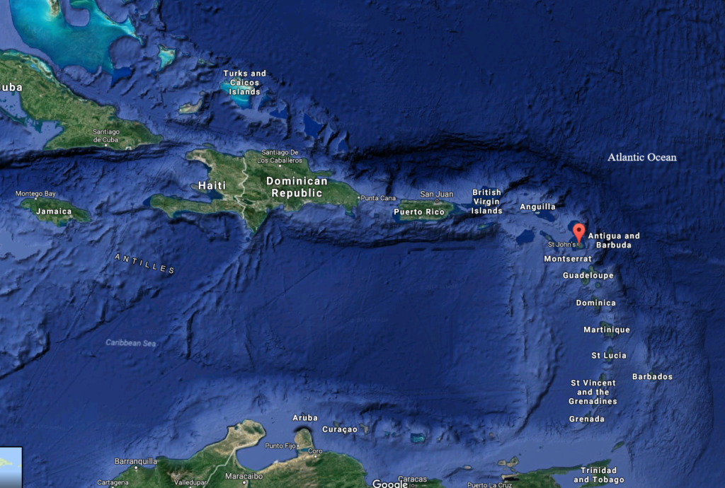barbados less antilles atlantic ocean