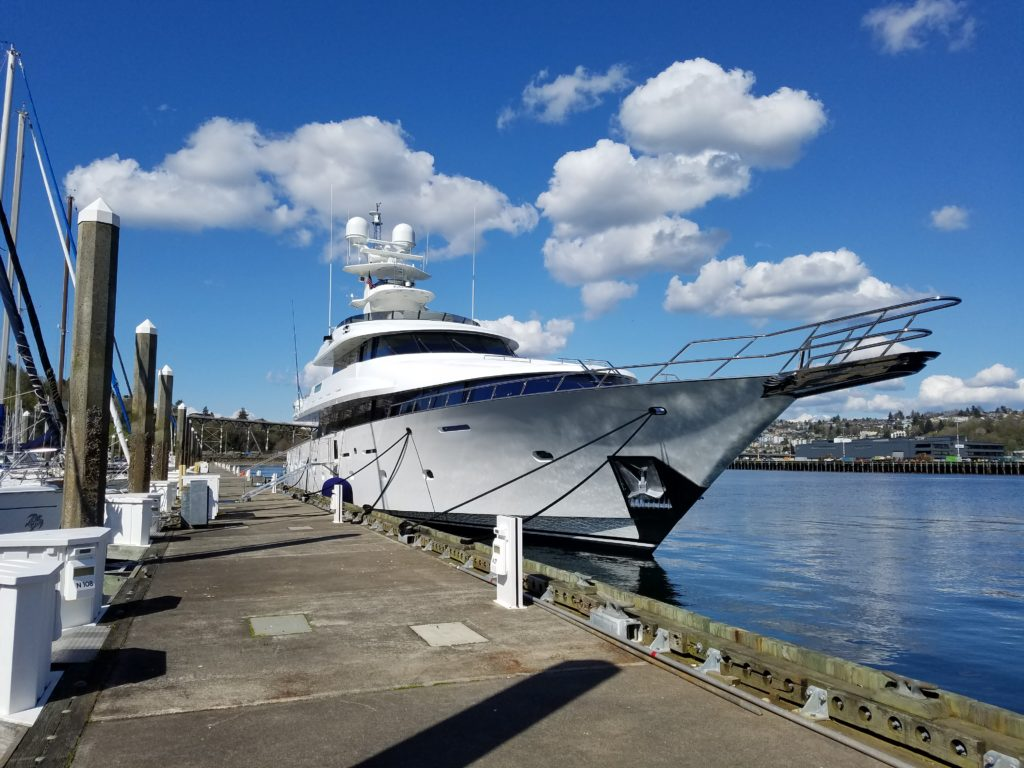mega yacht seattle
